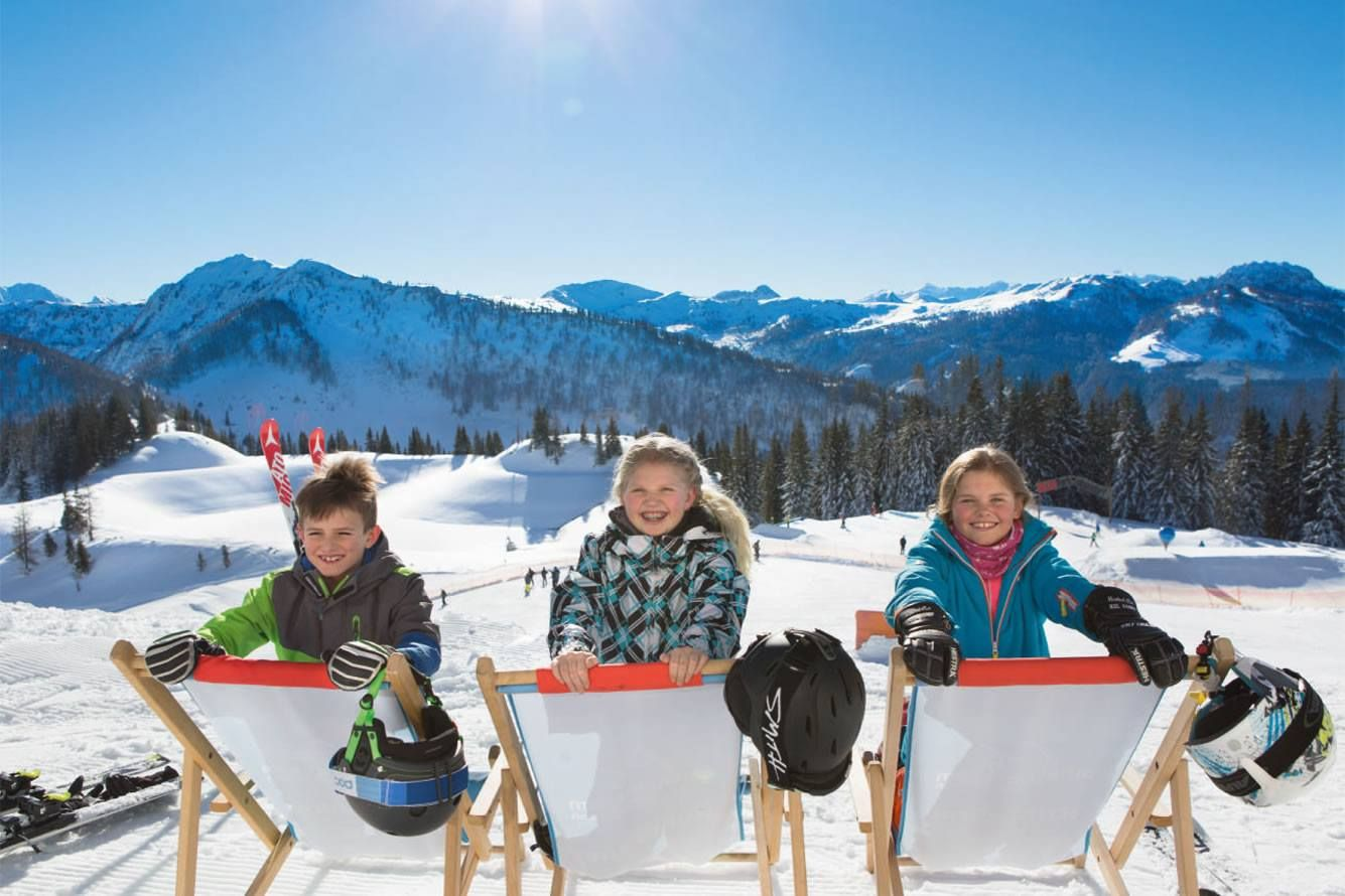 Family skiing holiday